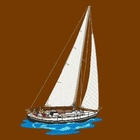 Embroidered Sailboat