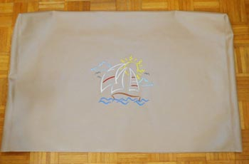 Embroidered Boat TV Cover