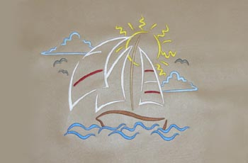 Boat Embroidery
